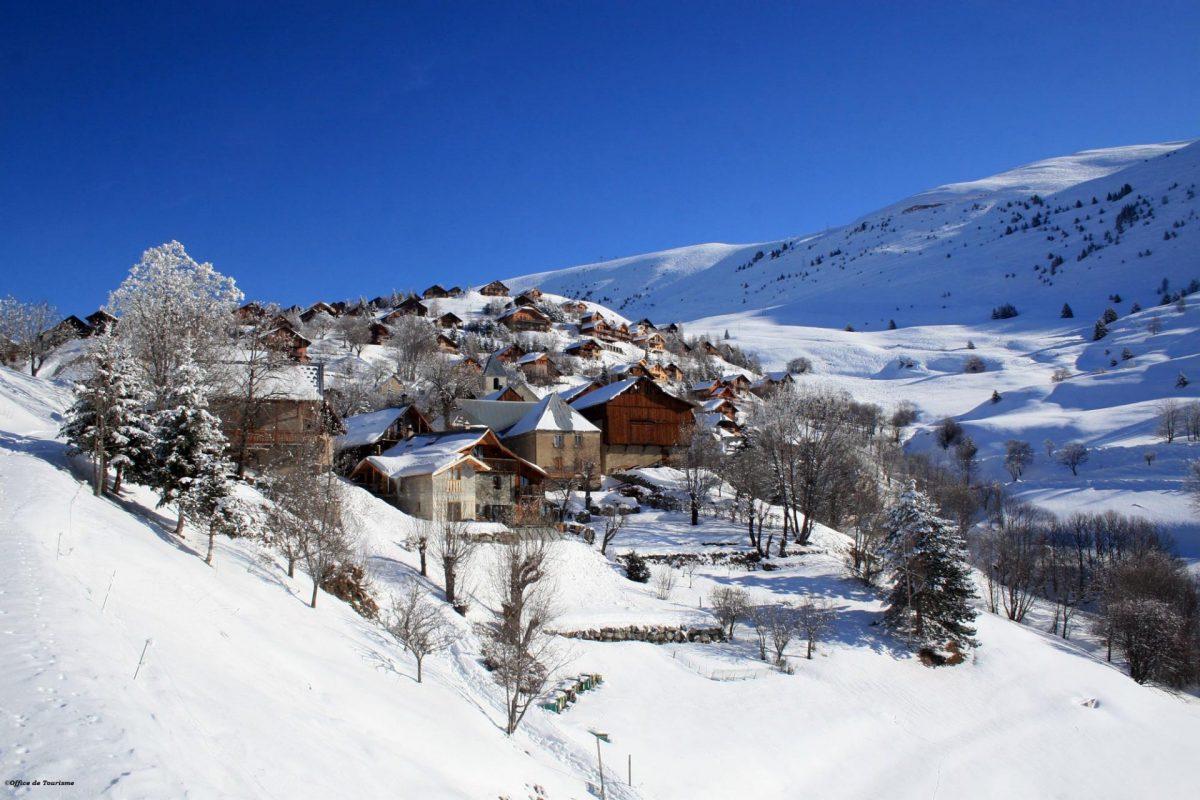 La station village de Villard Reculas en hiver