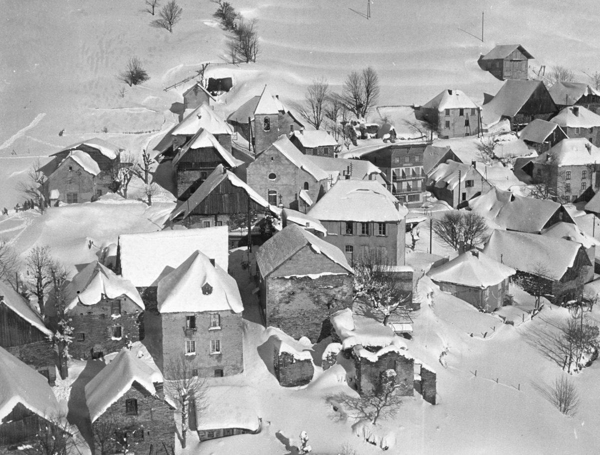 Le village de Villard-Reculas - Décembre 1962